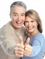 Couple lowers high blood pressure healthy eating and exercise